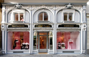 Chantal Thomass' flagship store on the Rue Saint-Honore in Paris. An intimidating storefront, even for me.
